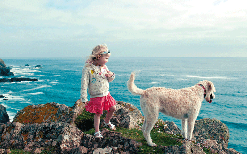 girl-dog-sea-landscape