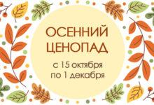 Осенний ценопад с 15 октября по 1 декабря